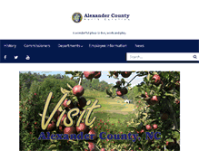 Tablet Preview of alexandercountync.gov
